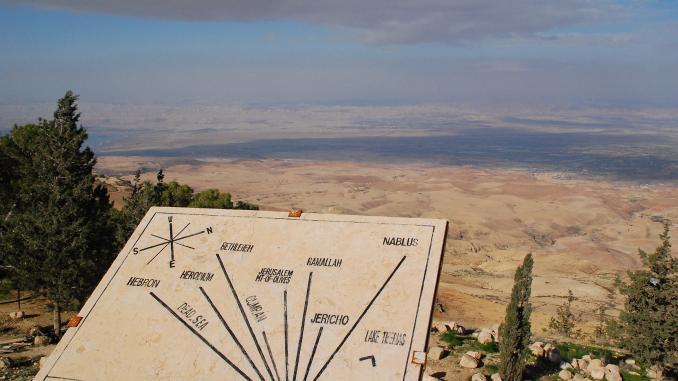 Blick vom Berg Nebo in Jordanien