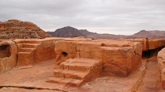 Der hohe Opferaltar in Petra