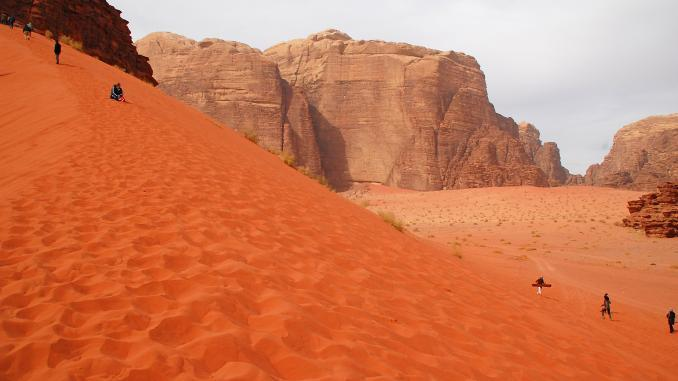Sanddünen des Wadi Rums