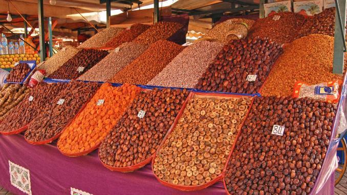 Marktstand in Marrakkesch