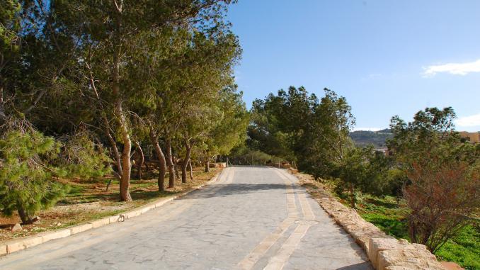 Landstraße auf Berg Nebo