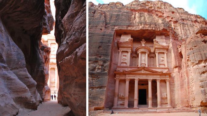 Schatzhaus in der Felsenstadt Petra