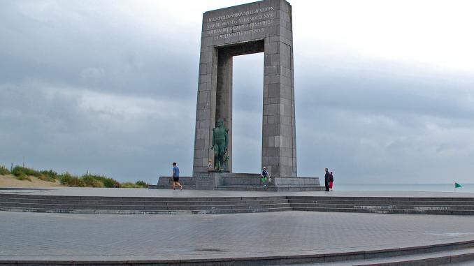 Denkmal von König Leopold I. in De Panne in Belgien