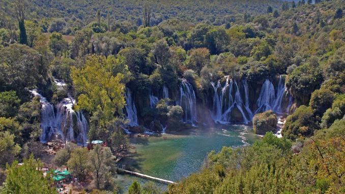 Kravica Wasserfälle Bosnien Herzegowina