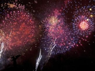 Silvester in New York / Feuerwerk Central Park