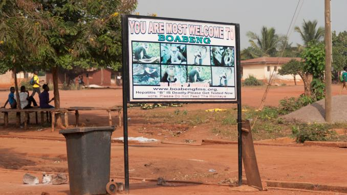 Affenschutzreservat Boabeng-Fiema Ghana Eingang