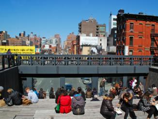 Aussichtspunkt High Line Park in New York