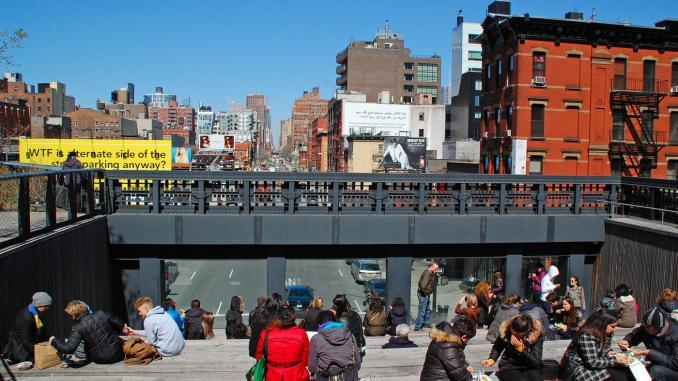 Aussichtspunkt High Line Park in New York