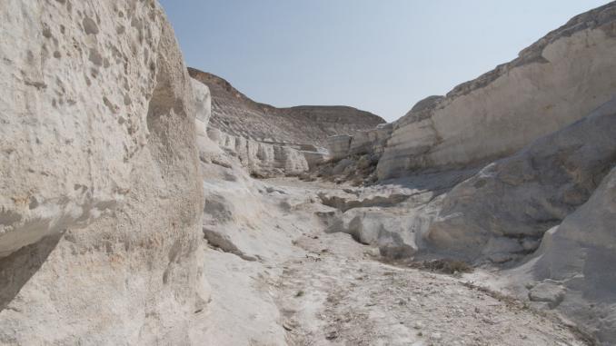 Weißer Canyon Mangystau Kasachstan