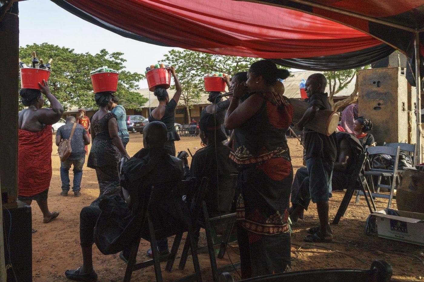 Beerdigung in Ghana