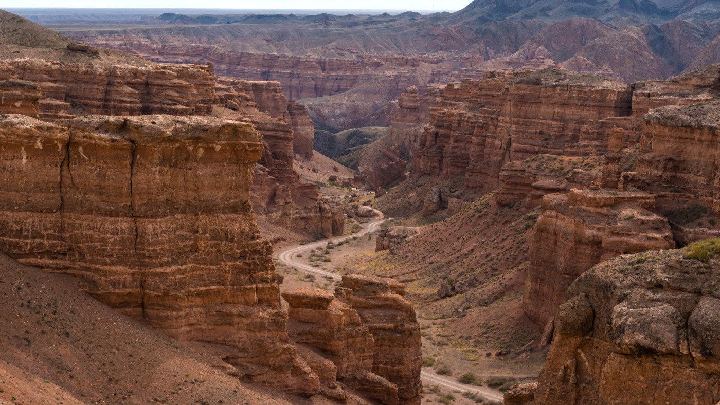 Charyn Canyon in Kasachstan