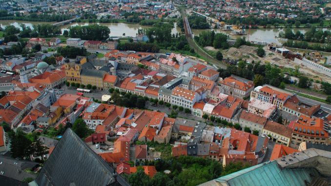 Blick von der Burg Trencin