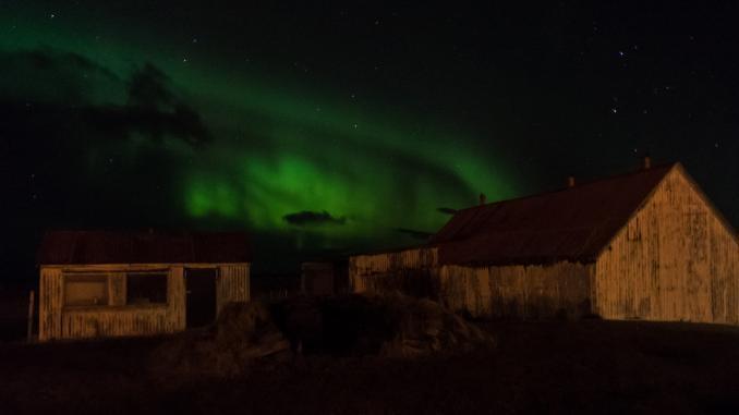 Erster Versuch Nordlichter Island