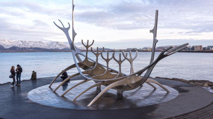 Solfar-Skulptur in Reykjavik