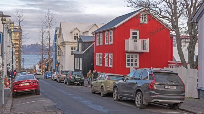 Straße in Reykjavik