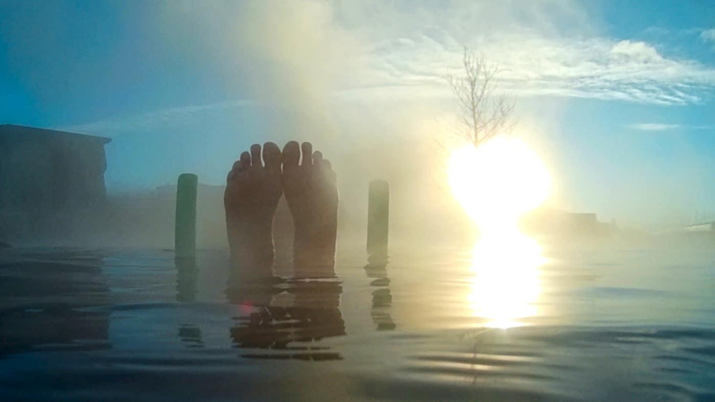 Schwimmen in Island