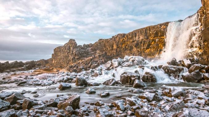 Wasserfall Öxarárfoss auf dem Golden Circle