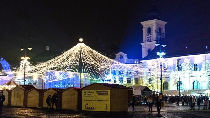Weihnachtsmarkt Piata Mare Sibiu