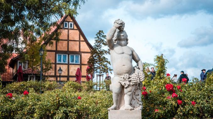 Statue im Stiftgarten Quedlinbug