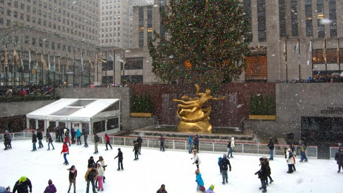The Rink am Rockefeller Center / Weihnachten in New York City
