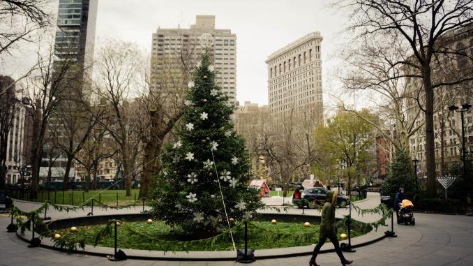 Weihnachtsbaum auf Madison Avenue