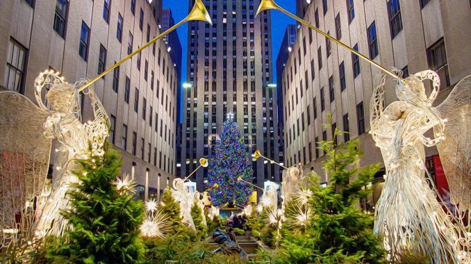 Engel Weihnachtsbaum Rockefeller Plaza