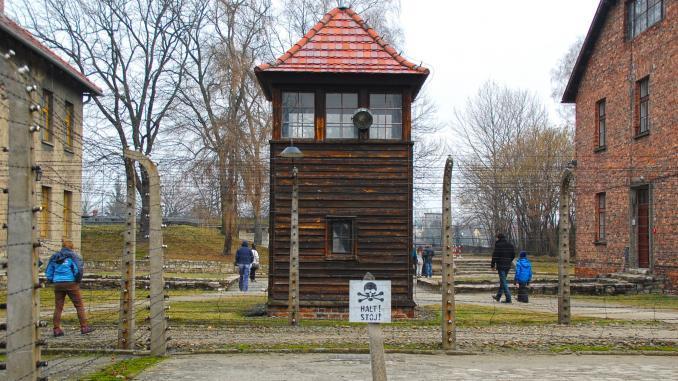 Wachturm in Auschwitz
