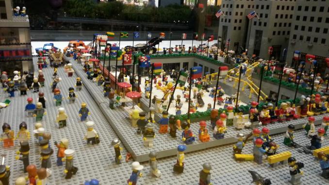 Lego-Nachbau Rockefeller Center