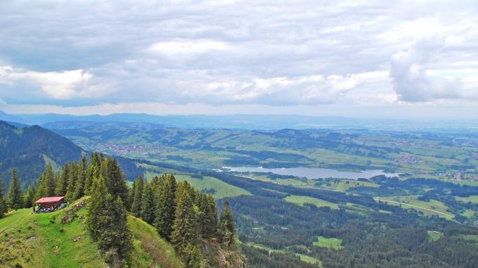 Aussicht von Alpspitz in Nesselwang